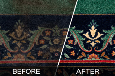 Plano Commercial Carpet Cleaning - Before and After