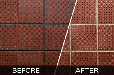 Plano Commercial Tile and Grout Cleaning - Before and After