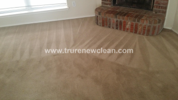 Carpet Cleaning in Frisco, Before and After