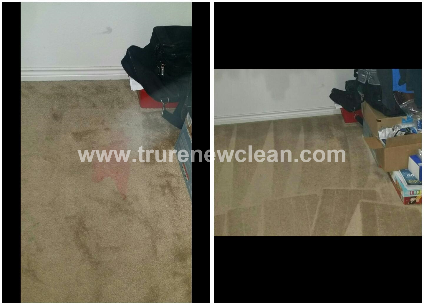 Carpet Cleaning in Rockwall, Before and After