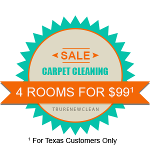 Texas Customer Carpet Cleaning Special - 5 Rooms for $99